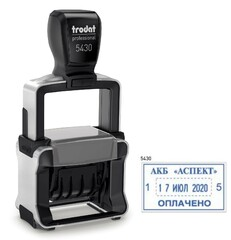 Trodat 5430 Датер с полем для текста букв/цифровой металлопластик
